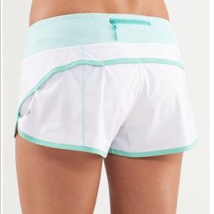 Lululemon Speed Short in White / Wee Stripe White